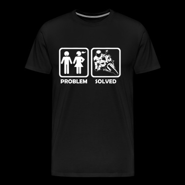 Motorcycle - racing motorcycle problem and solution - Men's Premium T-Shirt