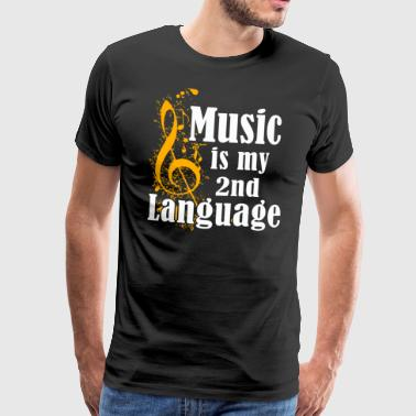 Music Is My 2nd Language - Männer Premium T-Shirt