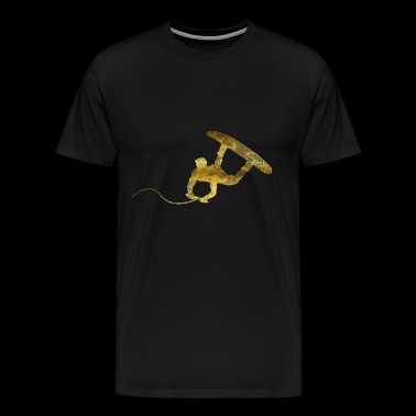 Wakeboarder gold waves gift - Men's Premium T-Shirt