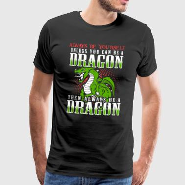 Lustiges Dragon Drachen Design - Männer Premium T-Shirt