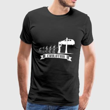 Evolution: Automotive Mechanic Automotive Mechatronics - Men's Premium T-Shirt