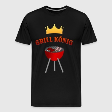 Grill King - BBQ & BBQ Party Gift - Herre premium T-shirt