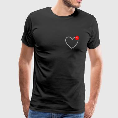 The love - message - SMS - in love - Men's Premium T-Shirt