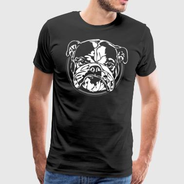 Engels Bulldog Bad - Mannen Premium T-shirt