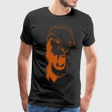 bronze design lion - Men's Premium T-Shirt
