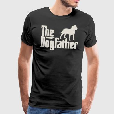 The Dogfather - Staffordshire Bull Terrier - Men's Premium T-Shirt