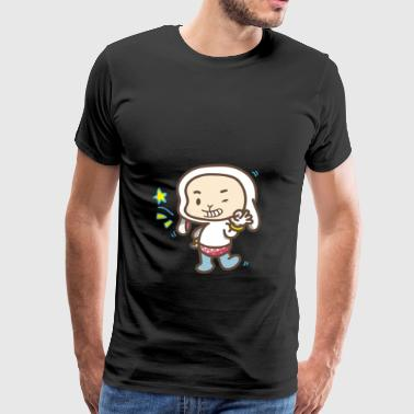 Cute little male winking with stars cute - Men's Premium T-Shirt