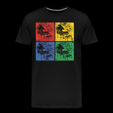 Piano pop art - Men's Premium T-Shirt