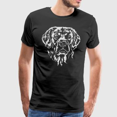 OR PORTRAIT RETRIEVER - T-shirt Premium Homme