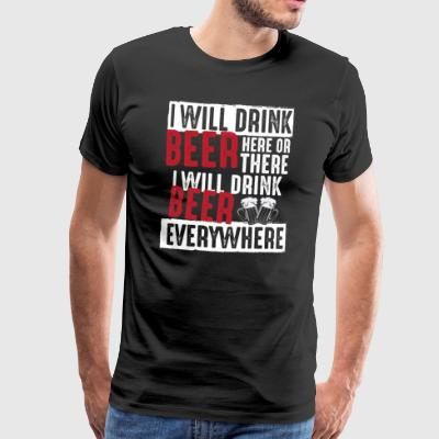 everywhere we drink beer gift party celebration JGA - Men's Premium T-Shirt