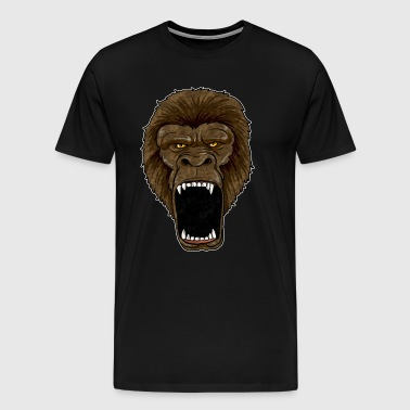 Gorilla On Rampage - Monkey primate zoo alpha animal rage - Men's Premium T-Shirt