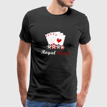 Royal flush poker - Mannen Premium T-shirt