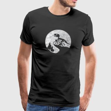 Dinosaur Dino Moon Gift Child Fantasy Primeval - Men's Premium T-Shirt