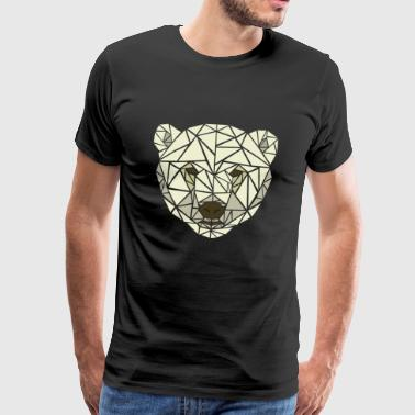 Polar Bear - Geometric - Men's Premium T-Shirt