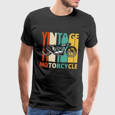 Vintage Retro Motorcycle.Gifts for Birthday.Dad. - Men's Premium T-Shirt