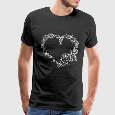 Heart braid - Men's Premium T-Shirt