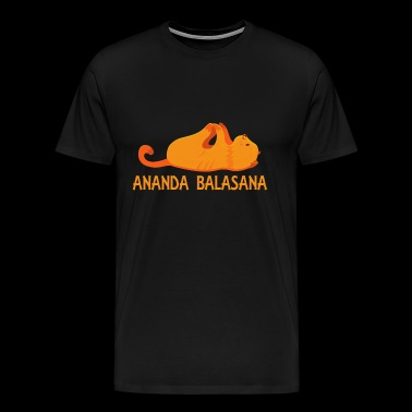 Cool Ananda Balasana Yoga Pose Cat Lover Gifts - Men's Premium T-Shirt