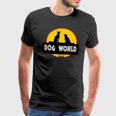 Hunden World Dog Dogs Cute Dog - Herre premium T-shirt