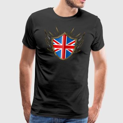 Great Britain Flag Coat of Arms Gold 014 - Men's Premium T-Shirt