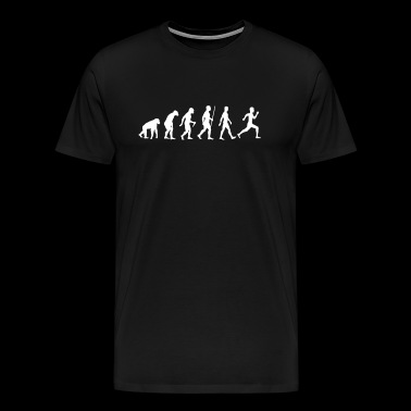 Running Run Jogging Evolution Gift - Men's Premium T-Shirt