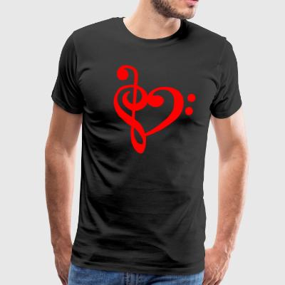 clef LOVE - Premium T-skjorte for menn