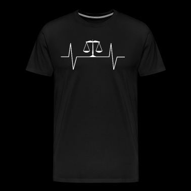 Cool Lawyer Heartbeat EKG Pulse Rate T-Shirt - Camiseta premium hombre