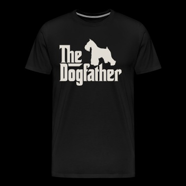 The Dogfather - Miniature Schnauzer Schnauzer - Men's Premium T-Shirt