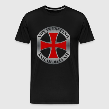 Templar Cross, Vox in Excelso - Men's Premium T-Shirt