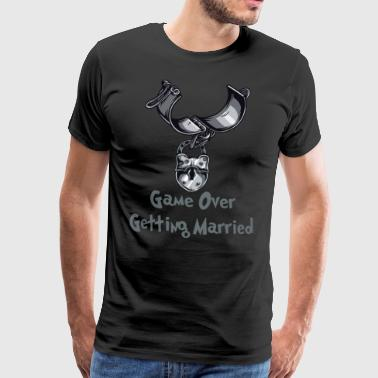 Game Over Getting Married - Men's Premium T-Shirt