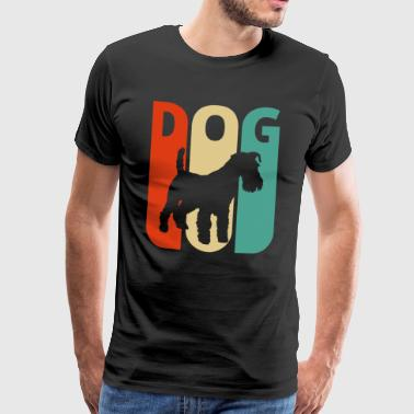 Retro Vintage Dog. Year of The Dog. Dog Puppy Love - Men's Premium T-Shirt