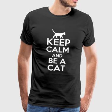 Keep Calm Cats T-shirt Engelska - Premium-T-shirt herr