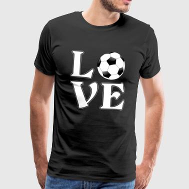 I love football - soccer - Gift - Mannen Premium T-shirt