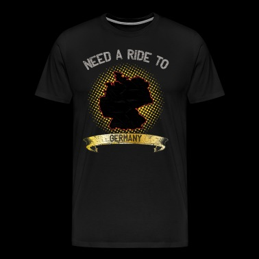 Need A Ride To Germany ➢ Travel hitchhiker - Men's Premium T-Shirt