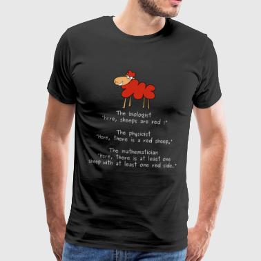 The red sheep and the mathematician - Men's Premium T-Shirt