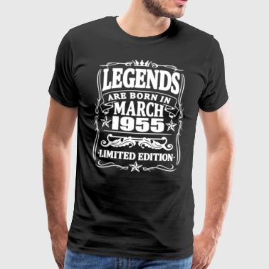 Legends are born in march 1955 - Men's Premium T-Shirt