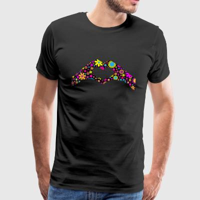 floral heart - Men's Premium T-Shirt