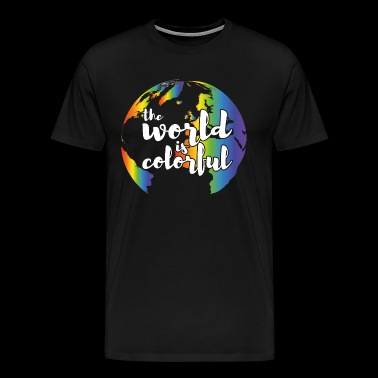 LGBT The world is colorful - Men's Premium T-Shirt
