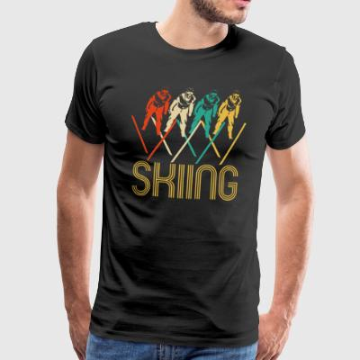Awesome Retro Pop Art Skiing Gifts for Skiers. - Men's Premium T-Shirt