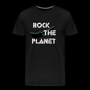 Rock the planet - Mannen Premium T-shirt