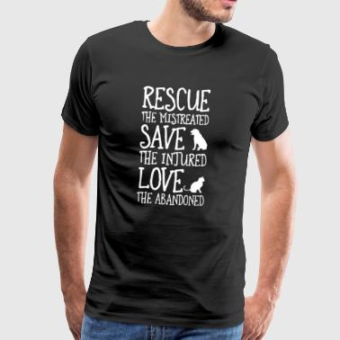 Save the abused, - Men's Premium T-Shirt