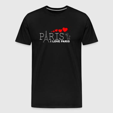 I Love Paris 2WR - Mannen Premium T-shirt