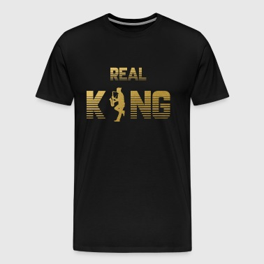 Real King - Saxophone Saxophone Instrument Musician - Men's Premium T-Shirt