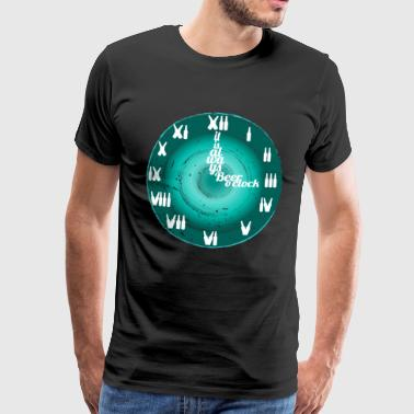Beer clock always time to drink gift holiday - Men's Premium T-Shirt
