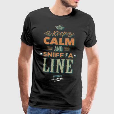 Keep calm and sniff a line - drugs - Men's Premium T-Shirt
