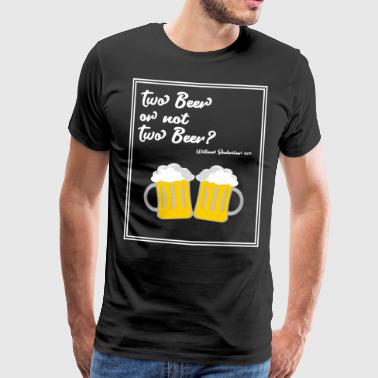 Funny beer saying poem gift Father's Day - Men's Premium T-Shirt