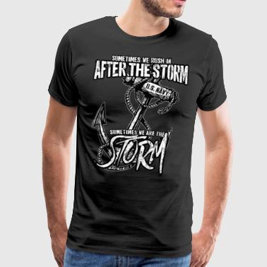 Anker Navy Storm Patriot Sailor Gift Shirt - Premium T-skjorte for menn
