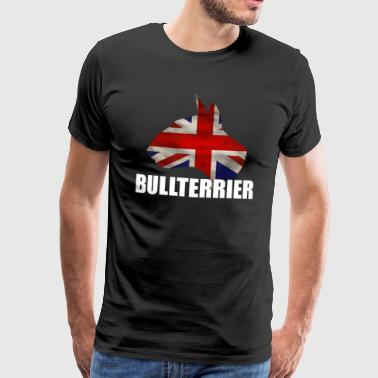 BULL TERRIER - GB Flag - Idea regalo - Maglietta Premium da uomo