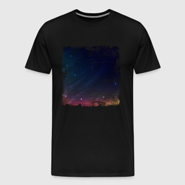 Starry sky night sky star universe moon - Men's Premium T-Shirt