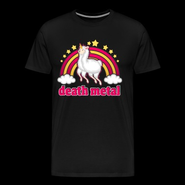 Death Metal Unicorn Unicorn Rainbow T-Shirt - Men's Premium T-Shirt