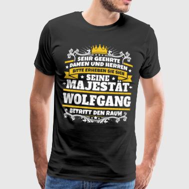 His Majesty Wolfgang - Herre premium T-shirt